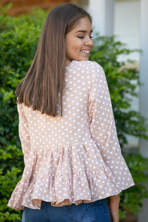 Simone Top in Blush