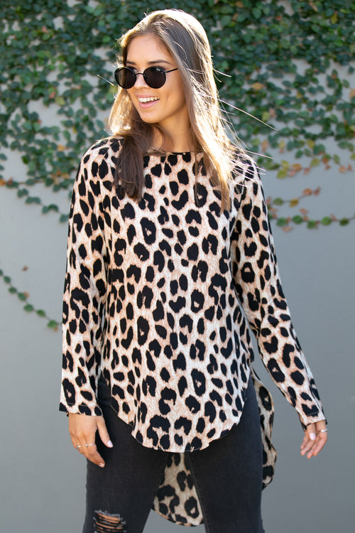 Darcy Top in Leopard