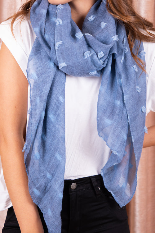 Ophelia Scarf in Blue