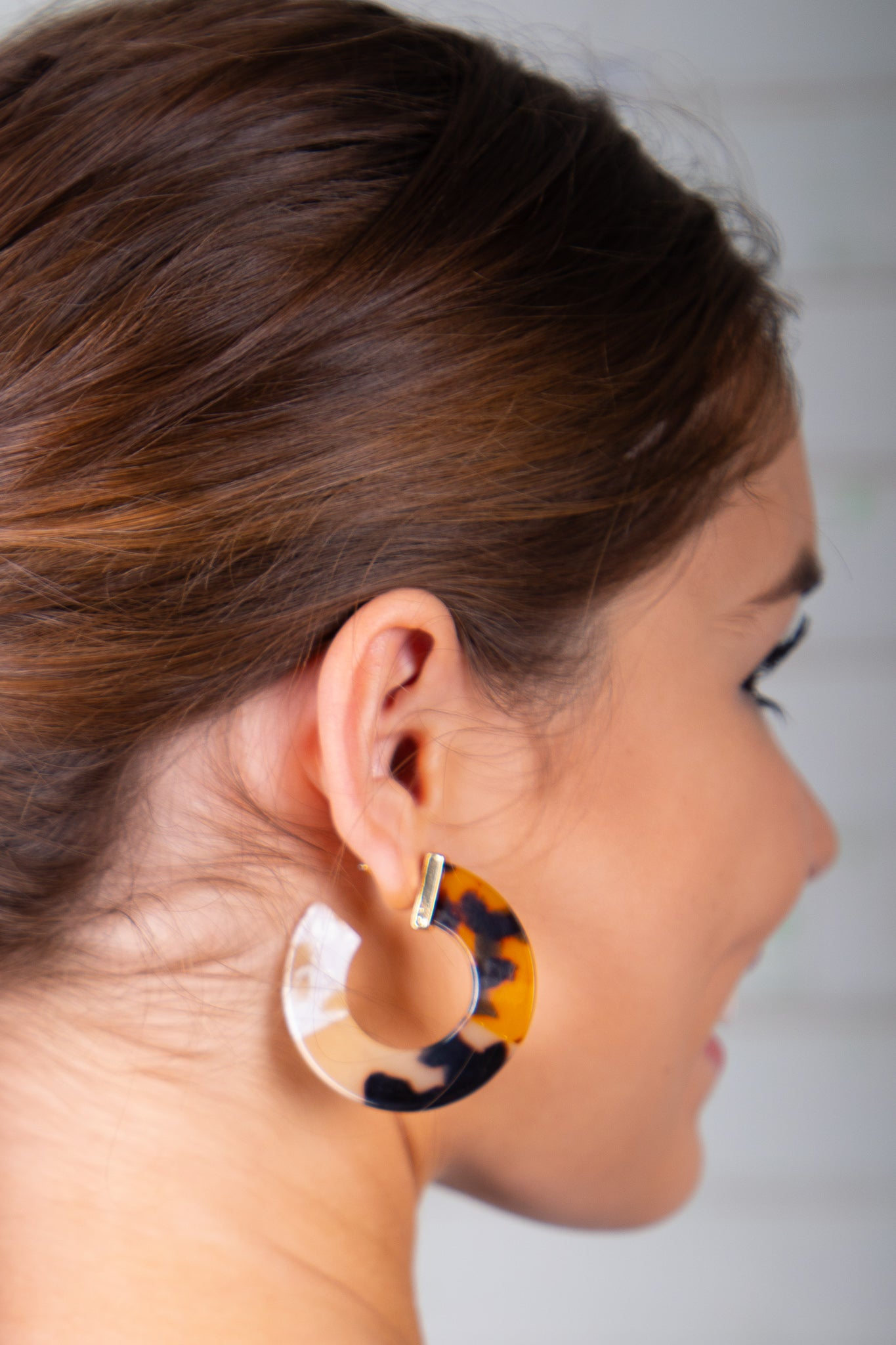 leopard print hoop earrings