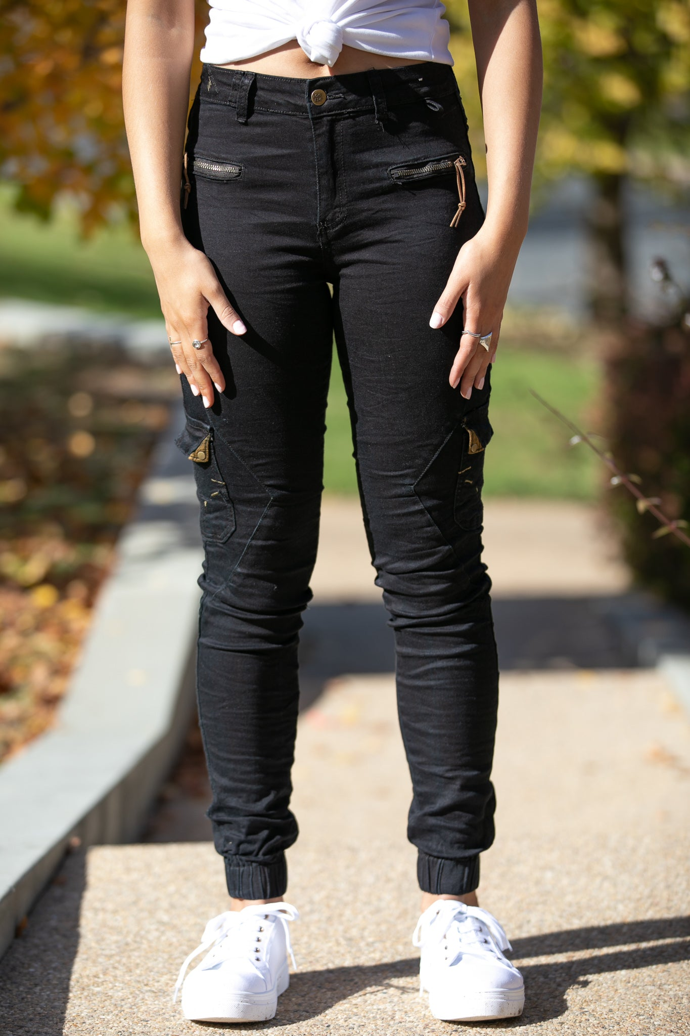Ruby Joggers in Black