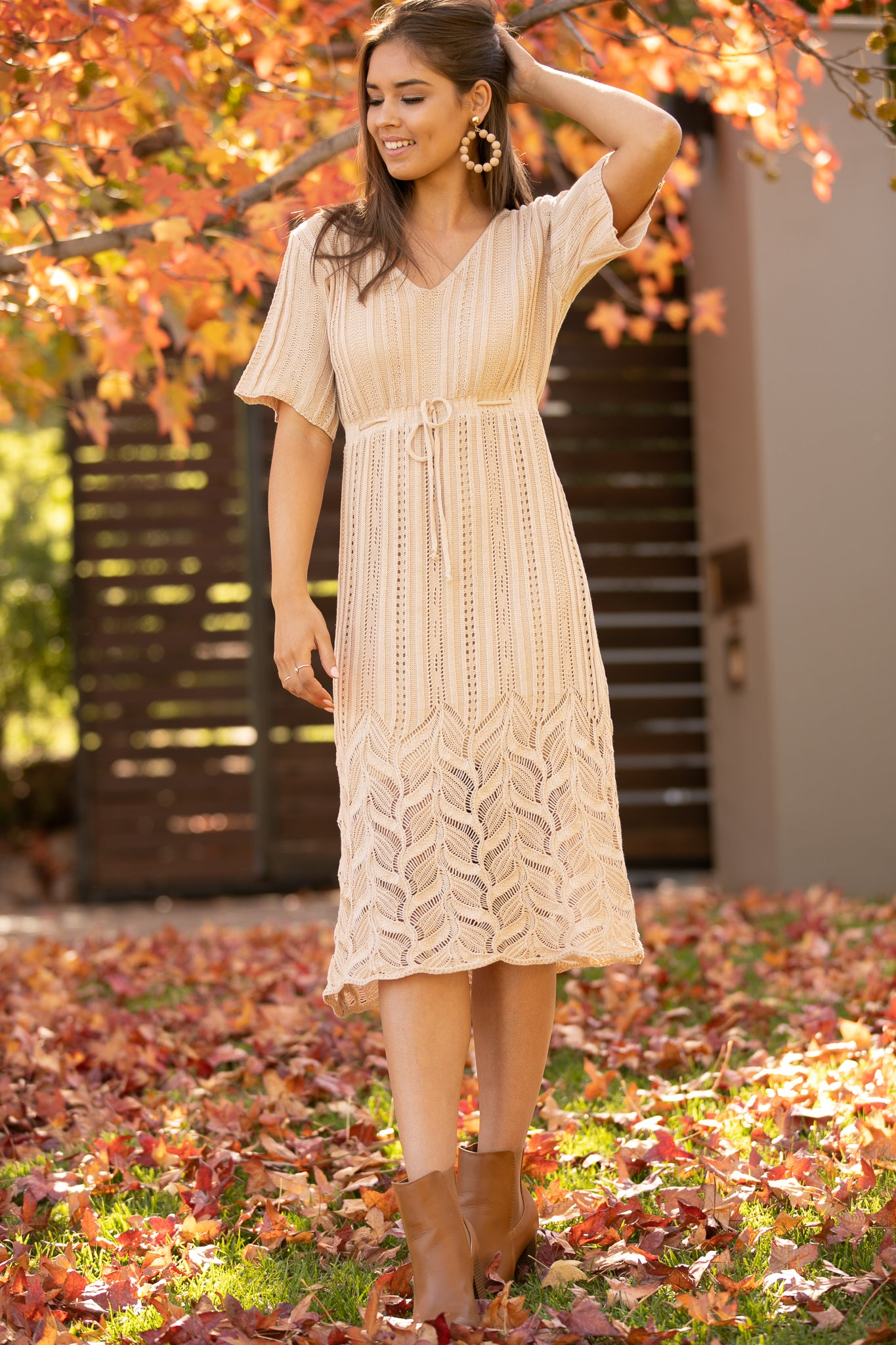Estelle Dress in Tan