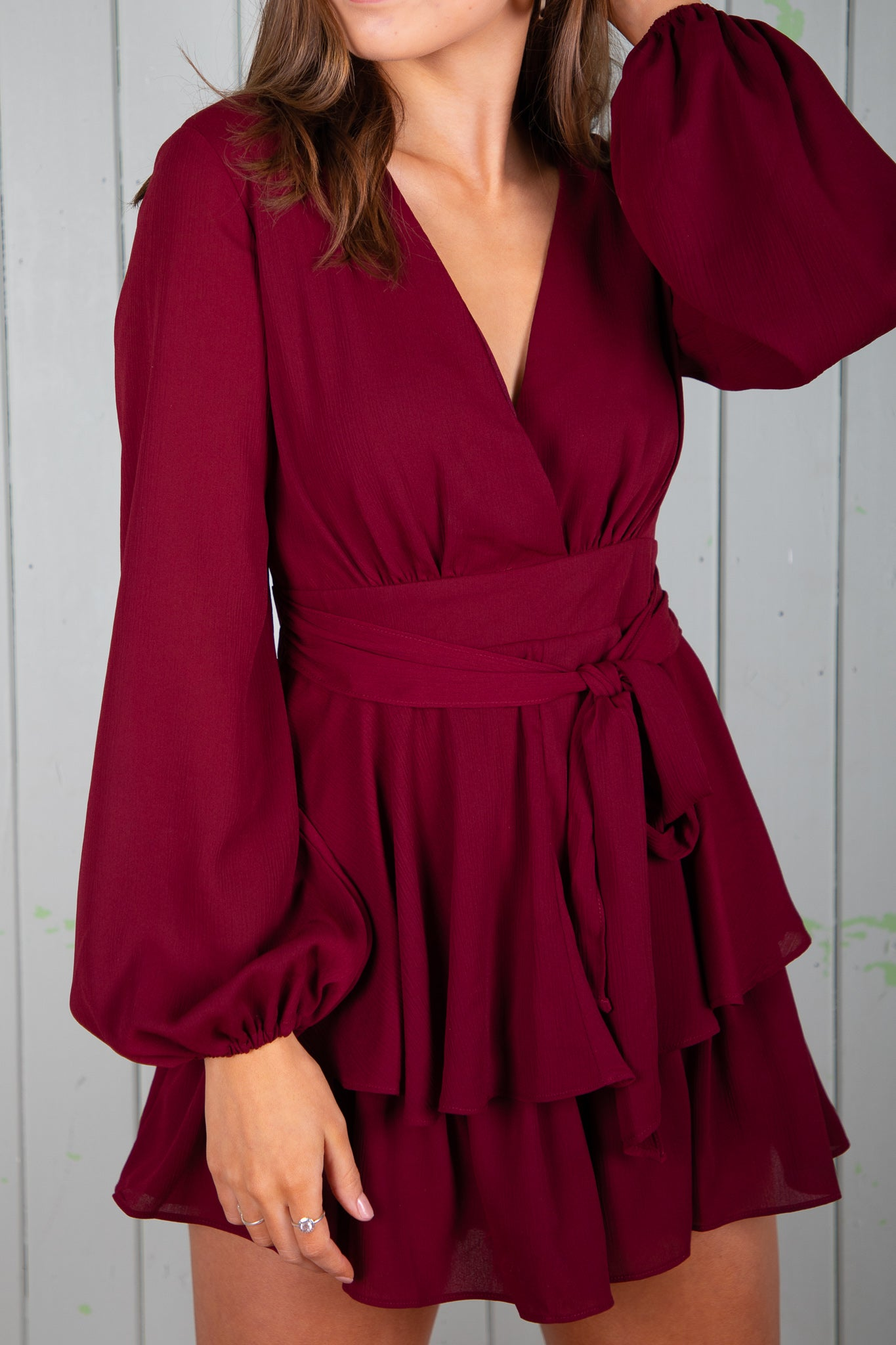 Carissa Playsuit in Wine