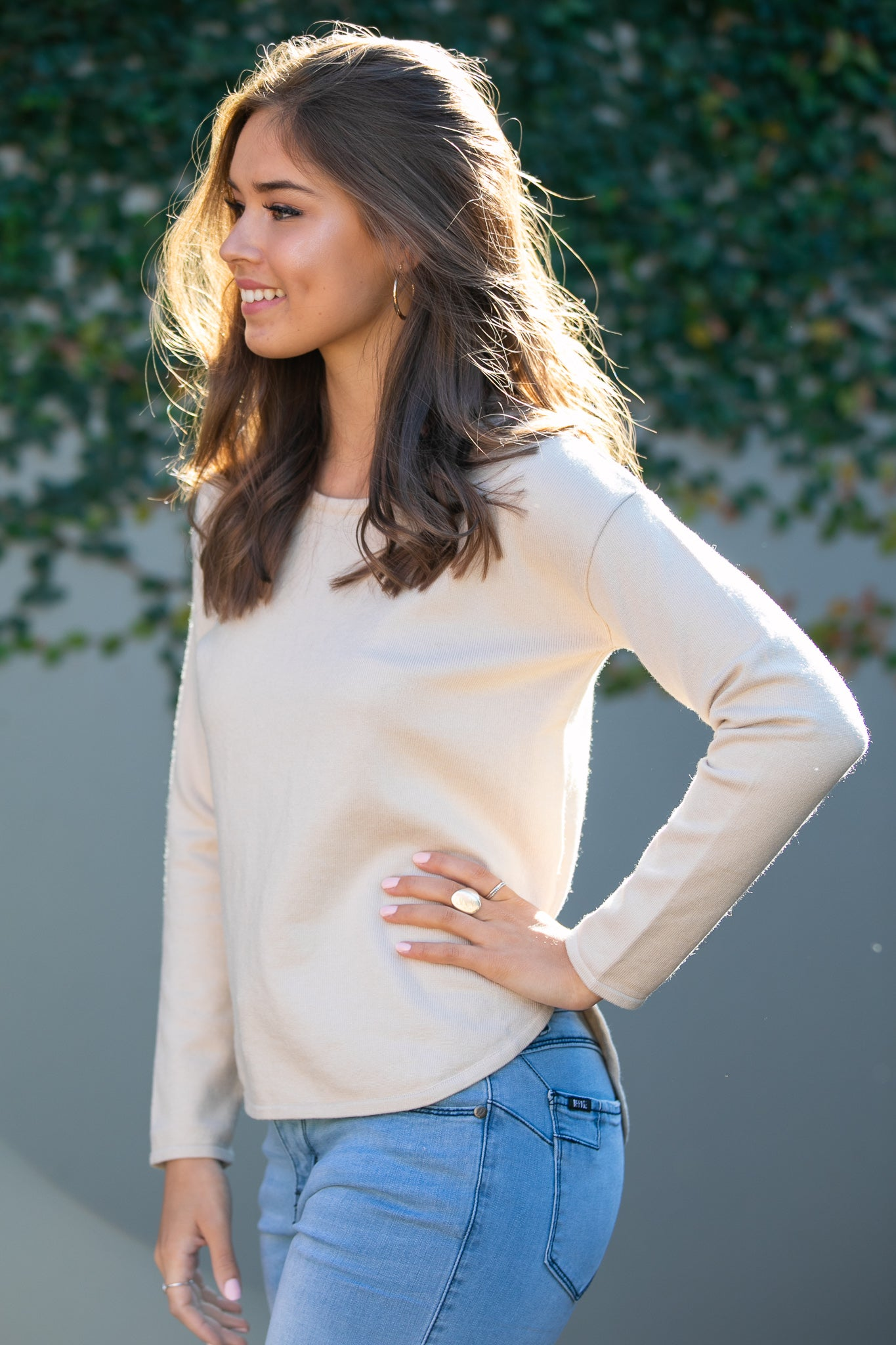 Maeve Jumper in Beige