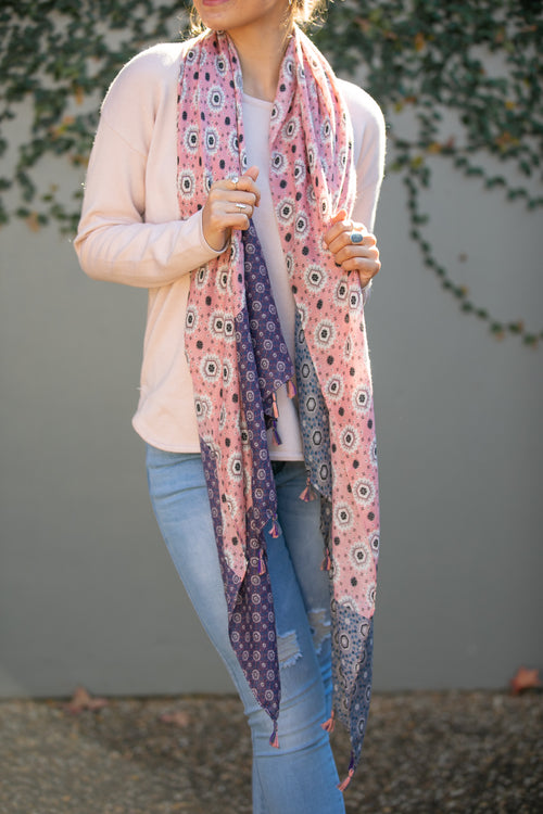 Valerie Scarf in Blush