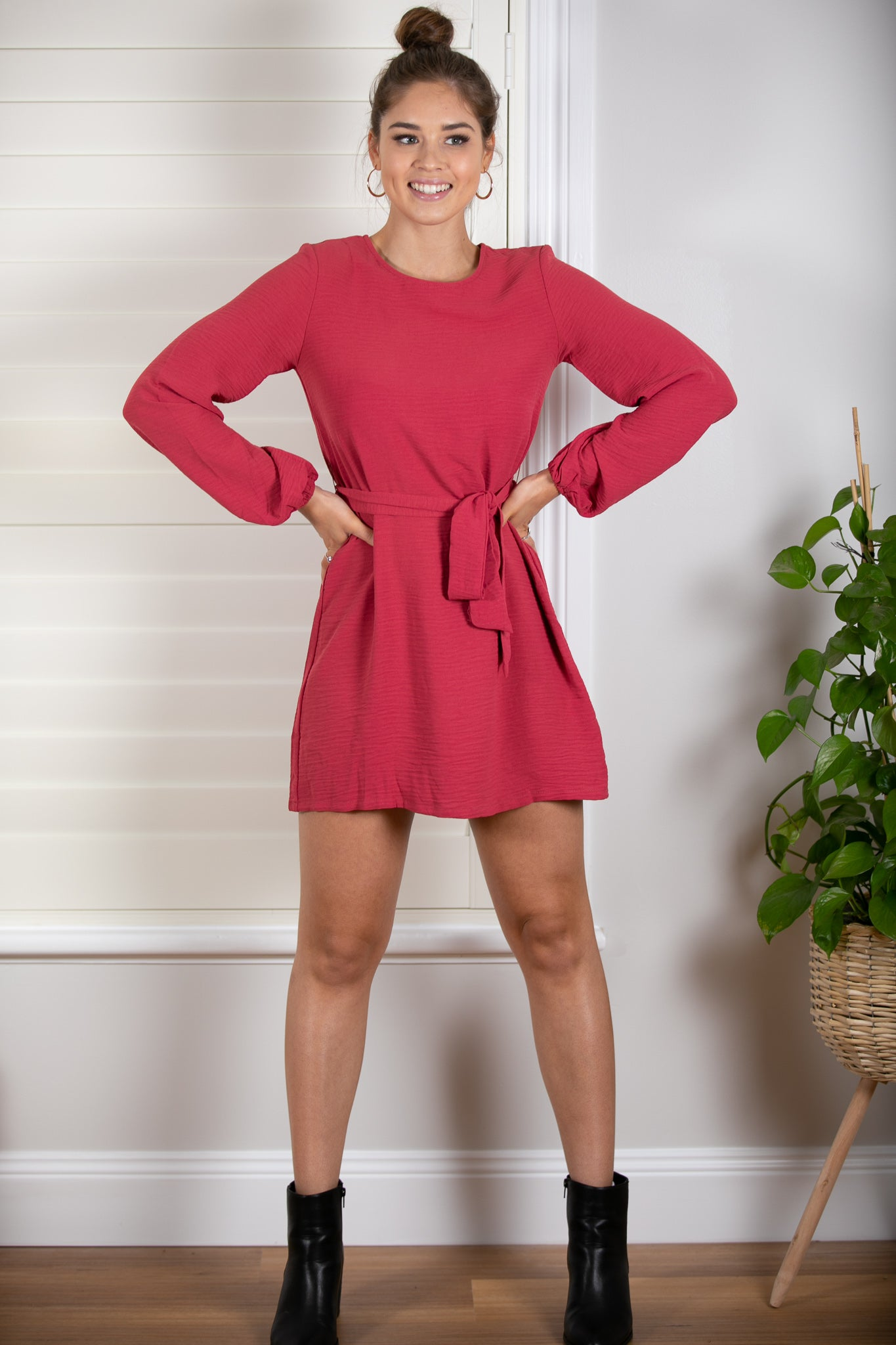 Flo Dress in Raspberry
