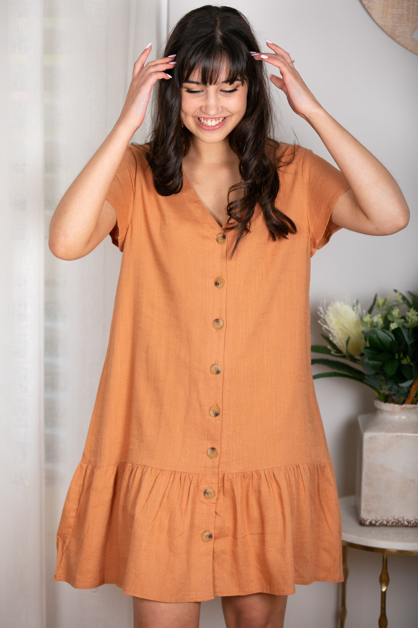 Esther Dress In Apricot