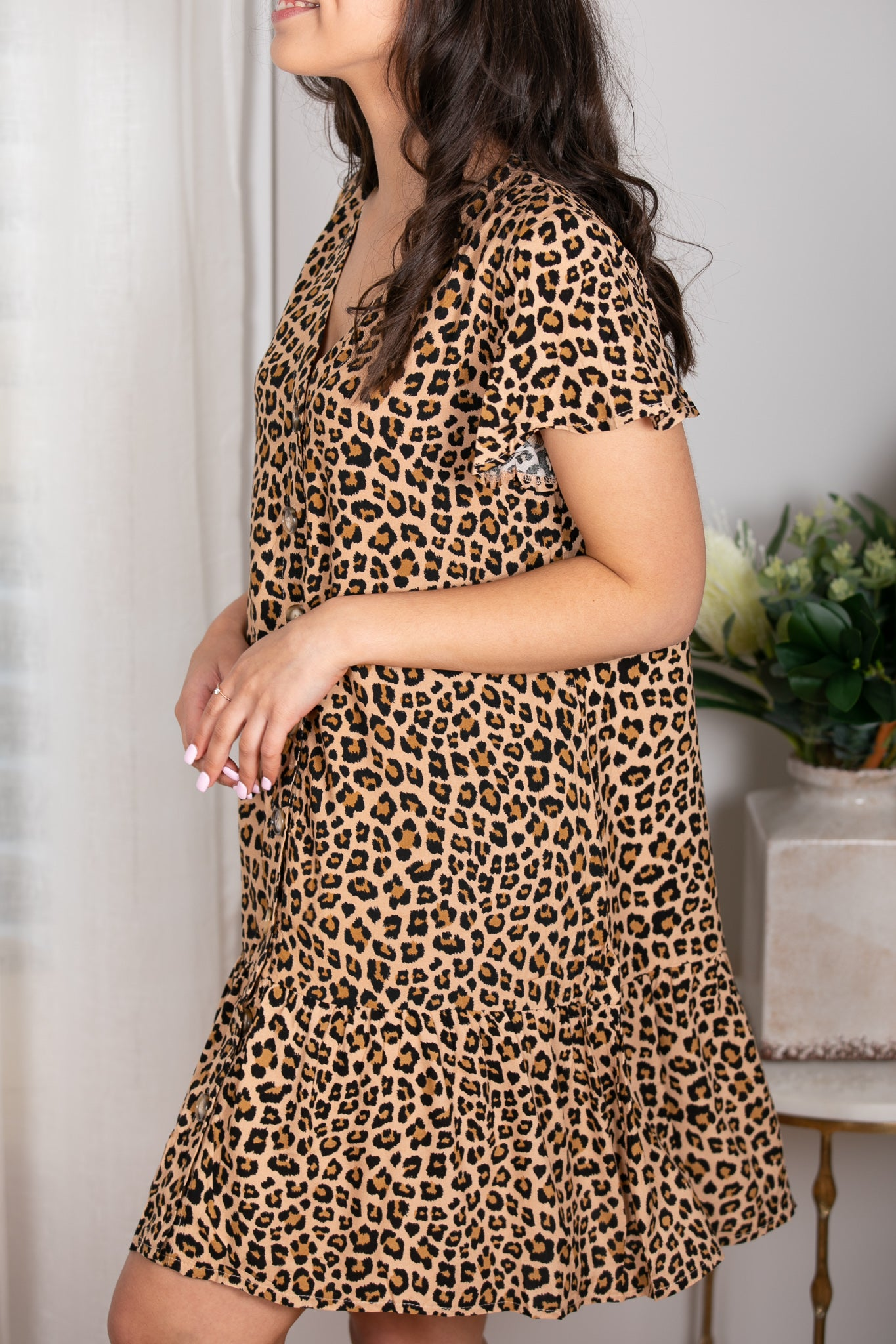 Ezra Dress in Leopard