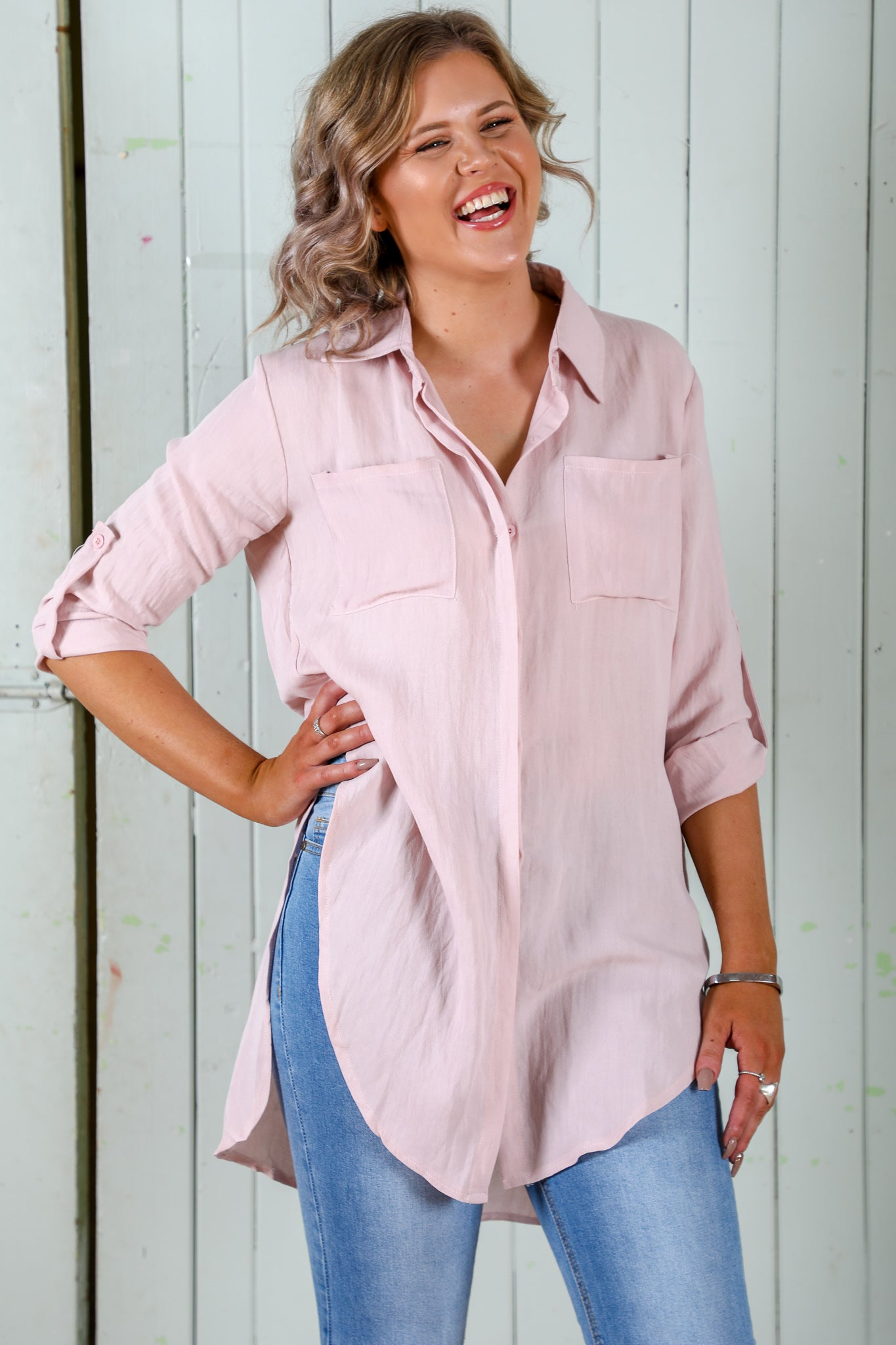 Lydia Top in Blush
