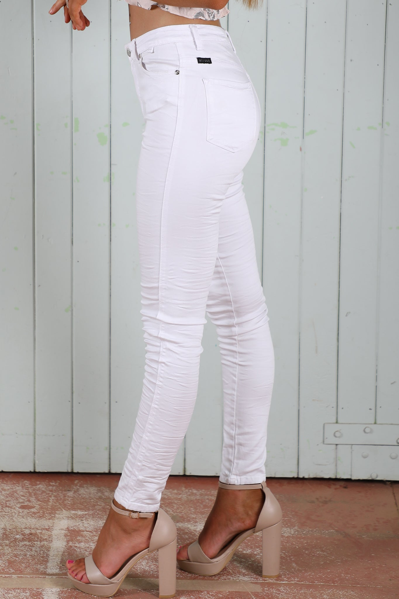 refuge gelato legs in white high waist