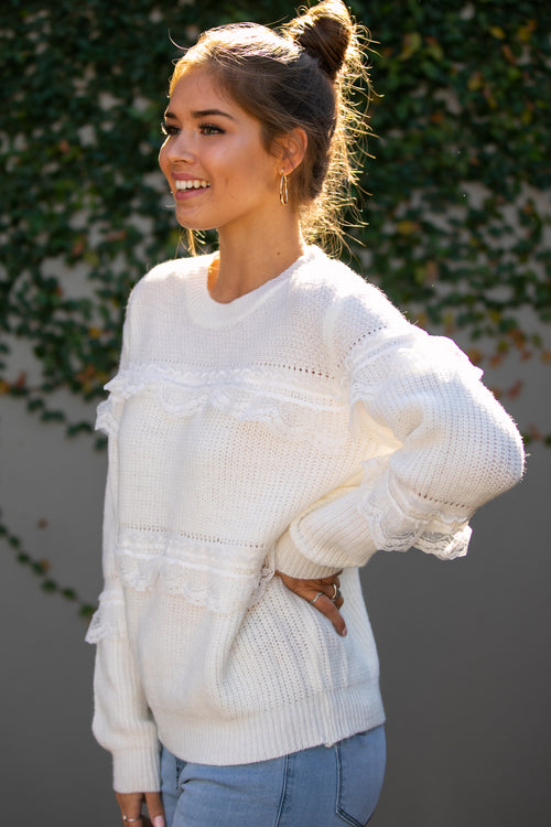 Gia Knit in White
