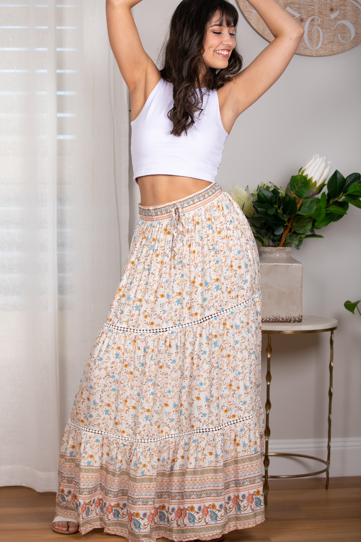 Melody Skirt in White