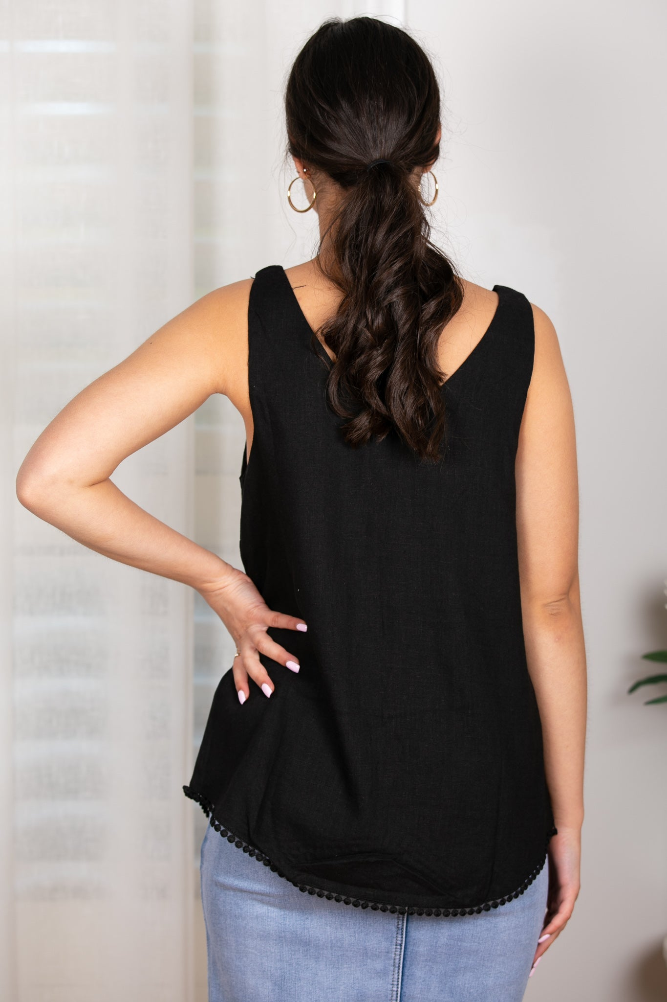 Dixie Top in Black