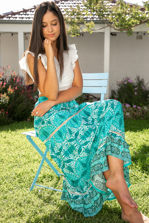 May Skirt in Aqua