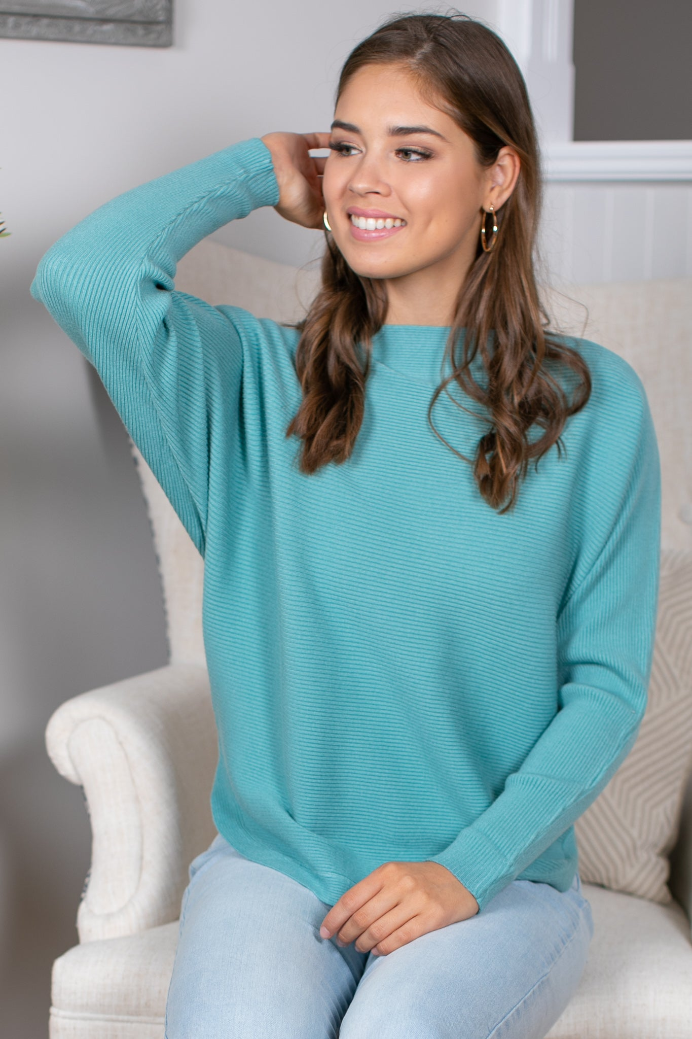 Lorelai Jumper in Sage