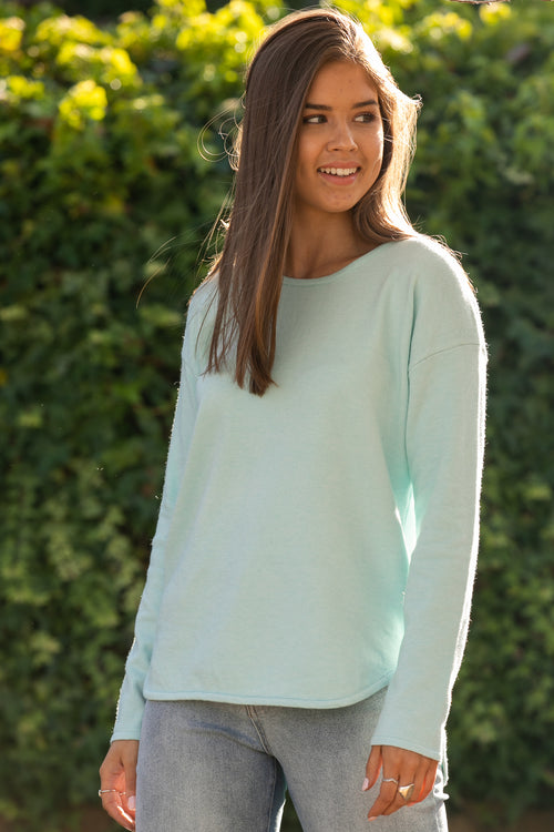 Maeve Jumper in Sea Blue