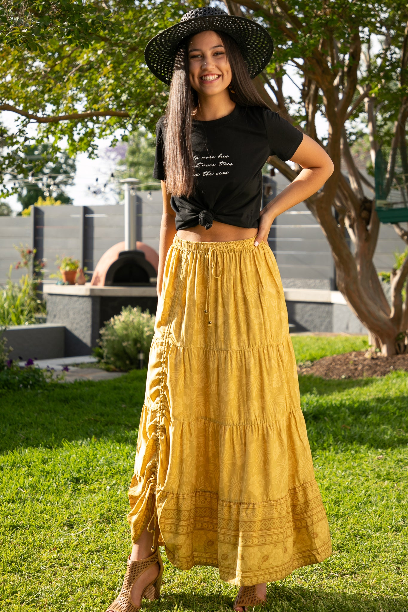 Keely Skirt in Mustard
