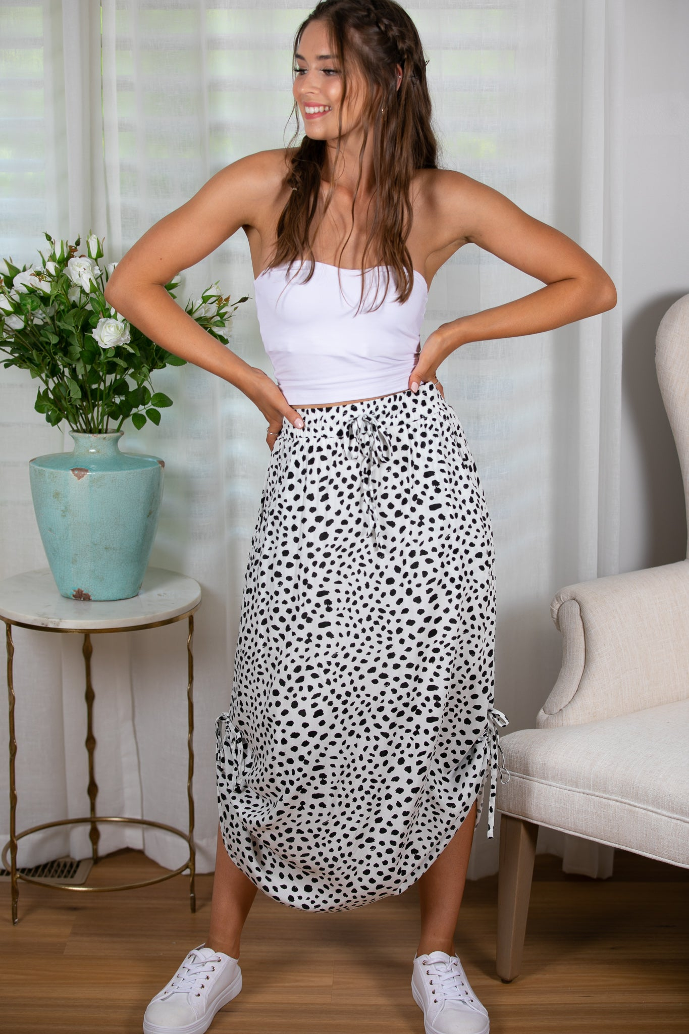 Indika Skirt in White