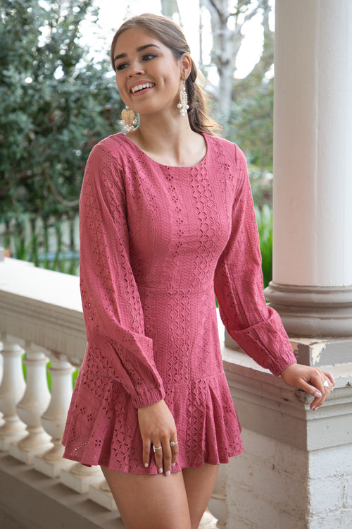 Jackie Dress in Rose