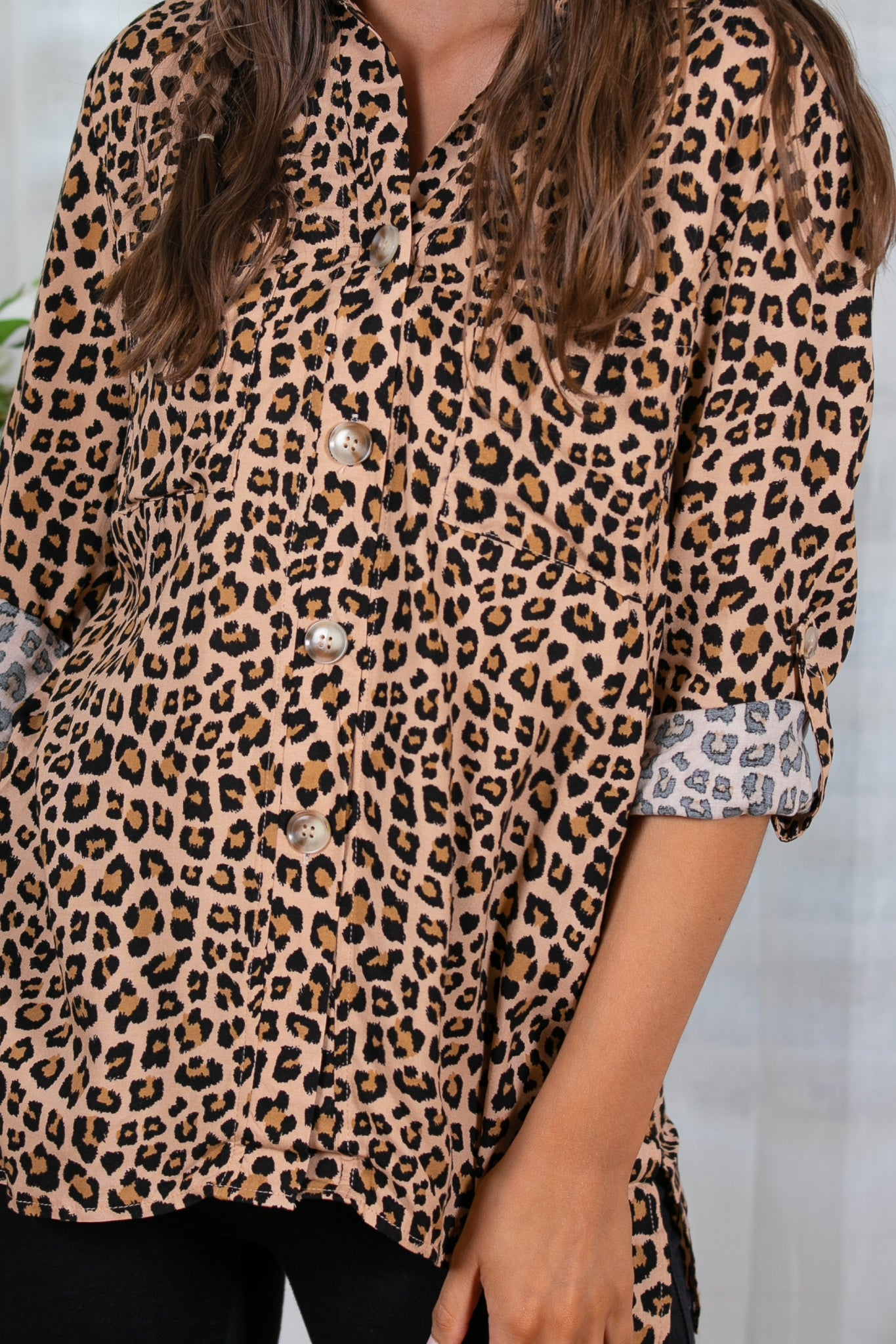 Corey Top in Leopard