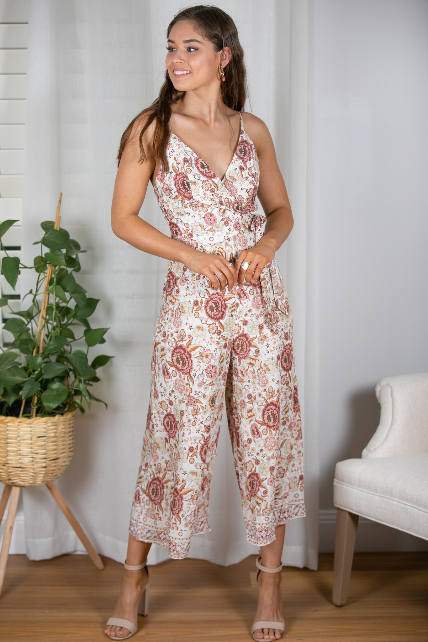 Stella Jumpsuit in White