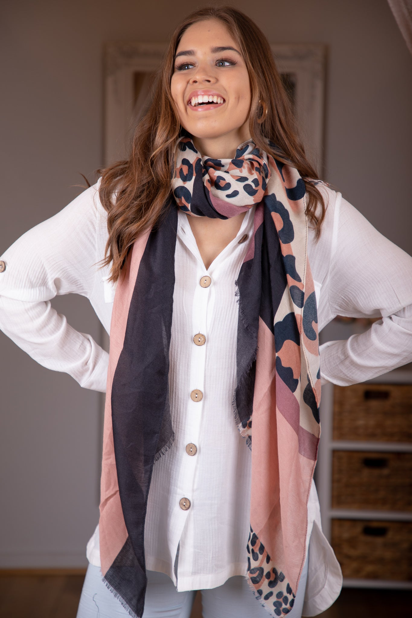 Steffie Scarf in Blush