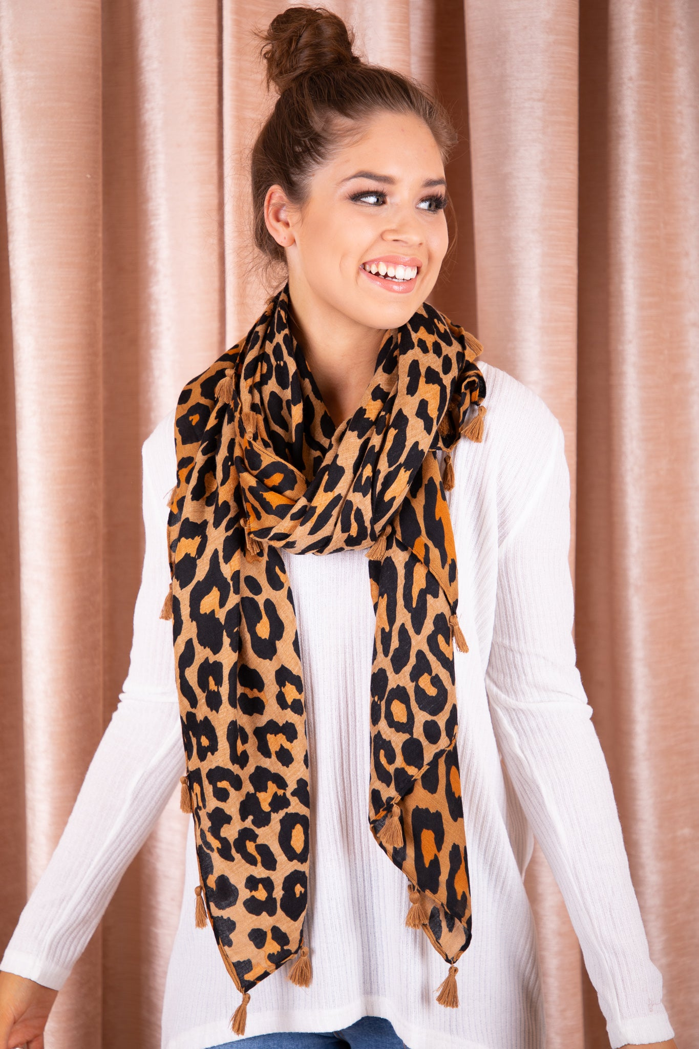 Kristine Scarf in Tan