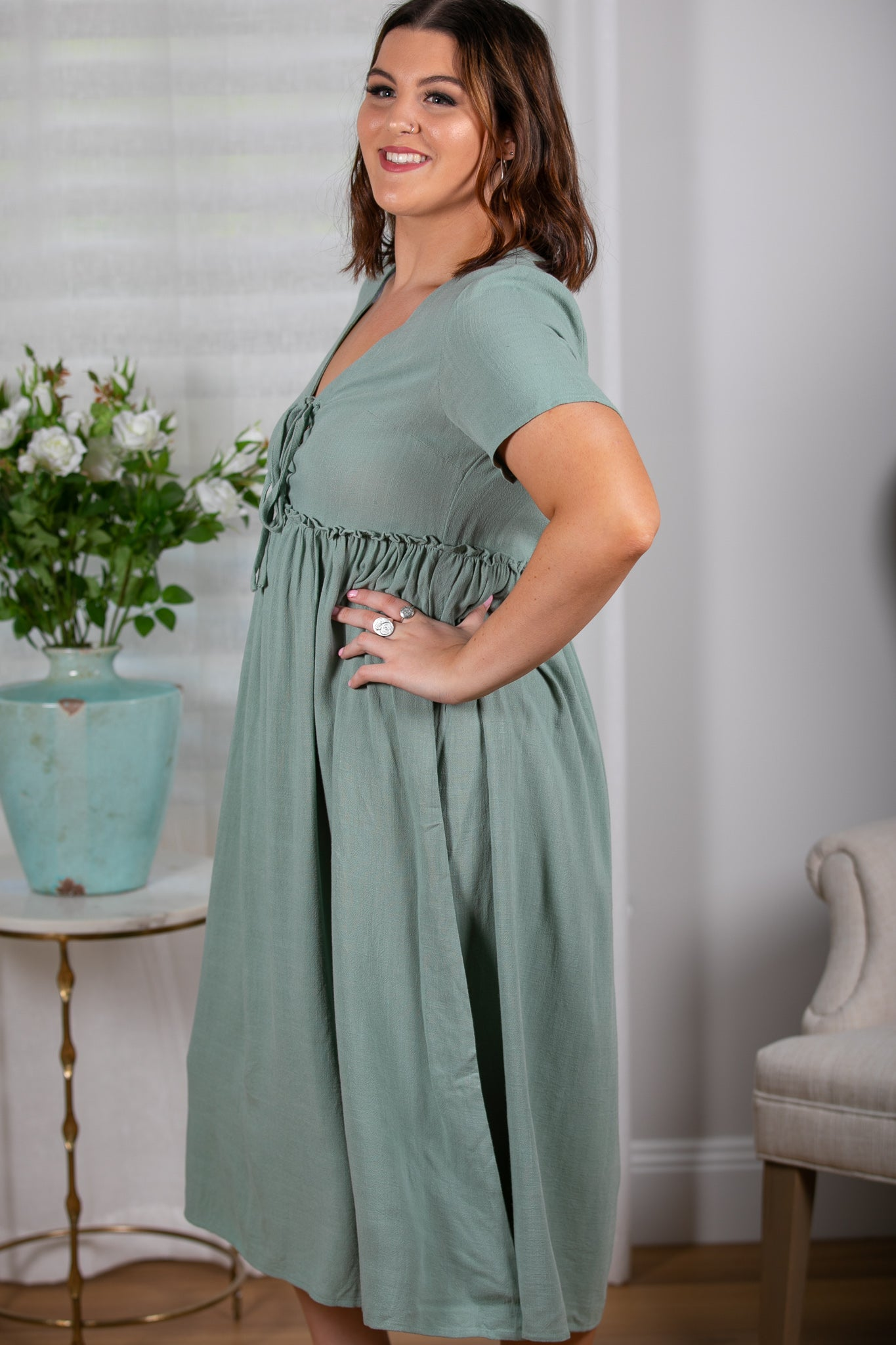 Addie Dress in Sage