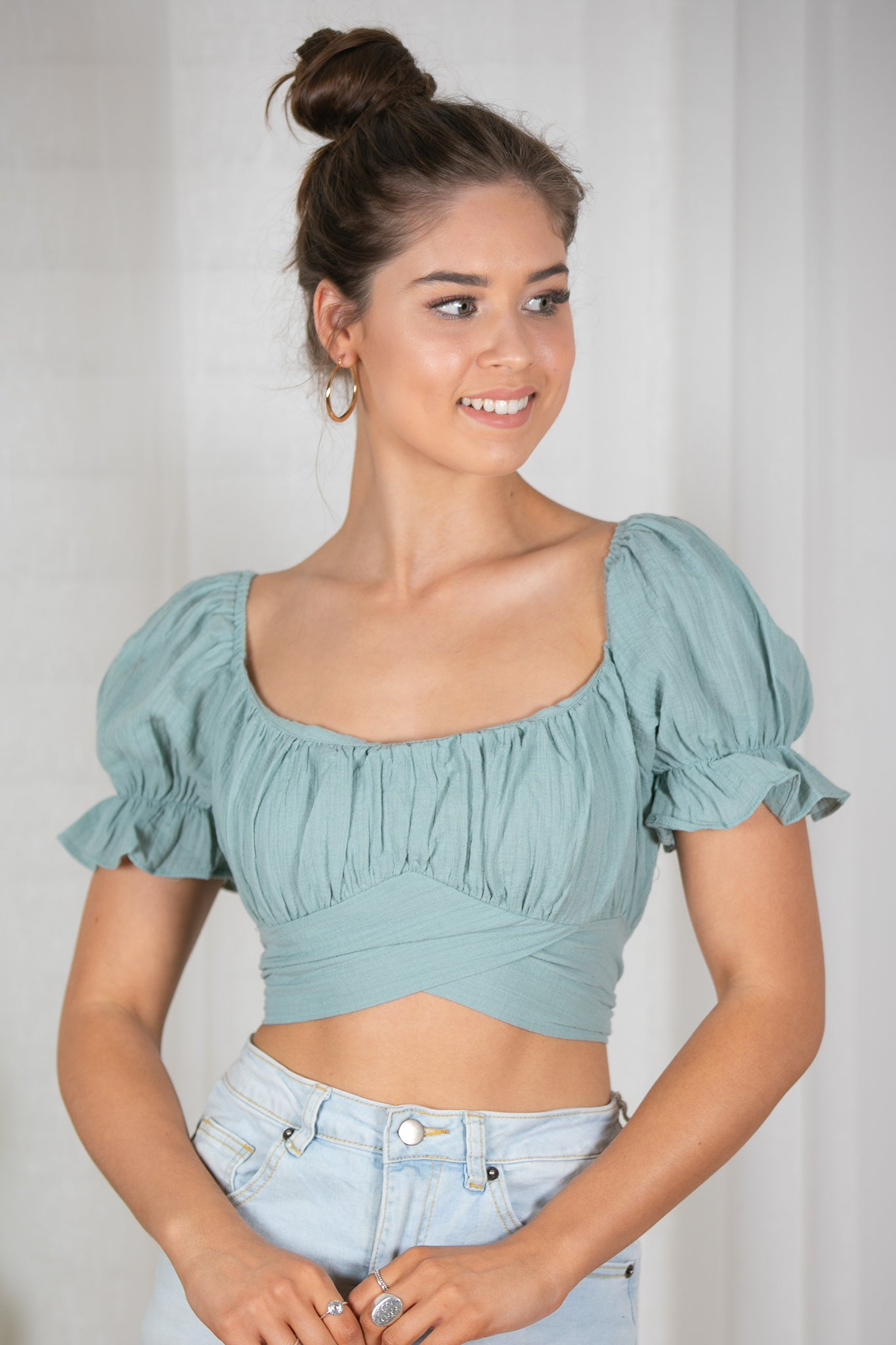 Cora Top in Green