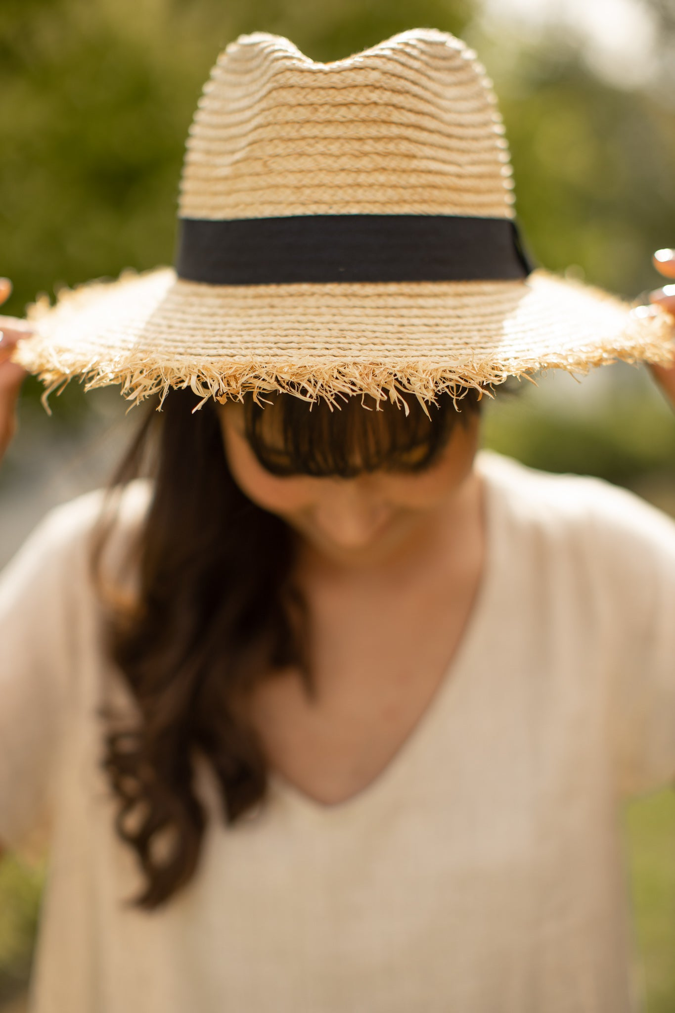 Harloe Hat in Sand with Black