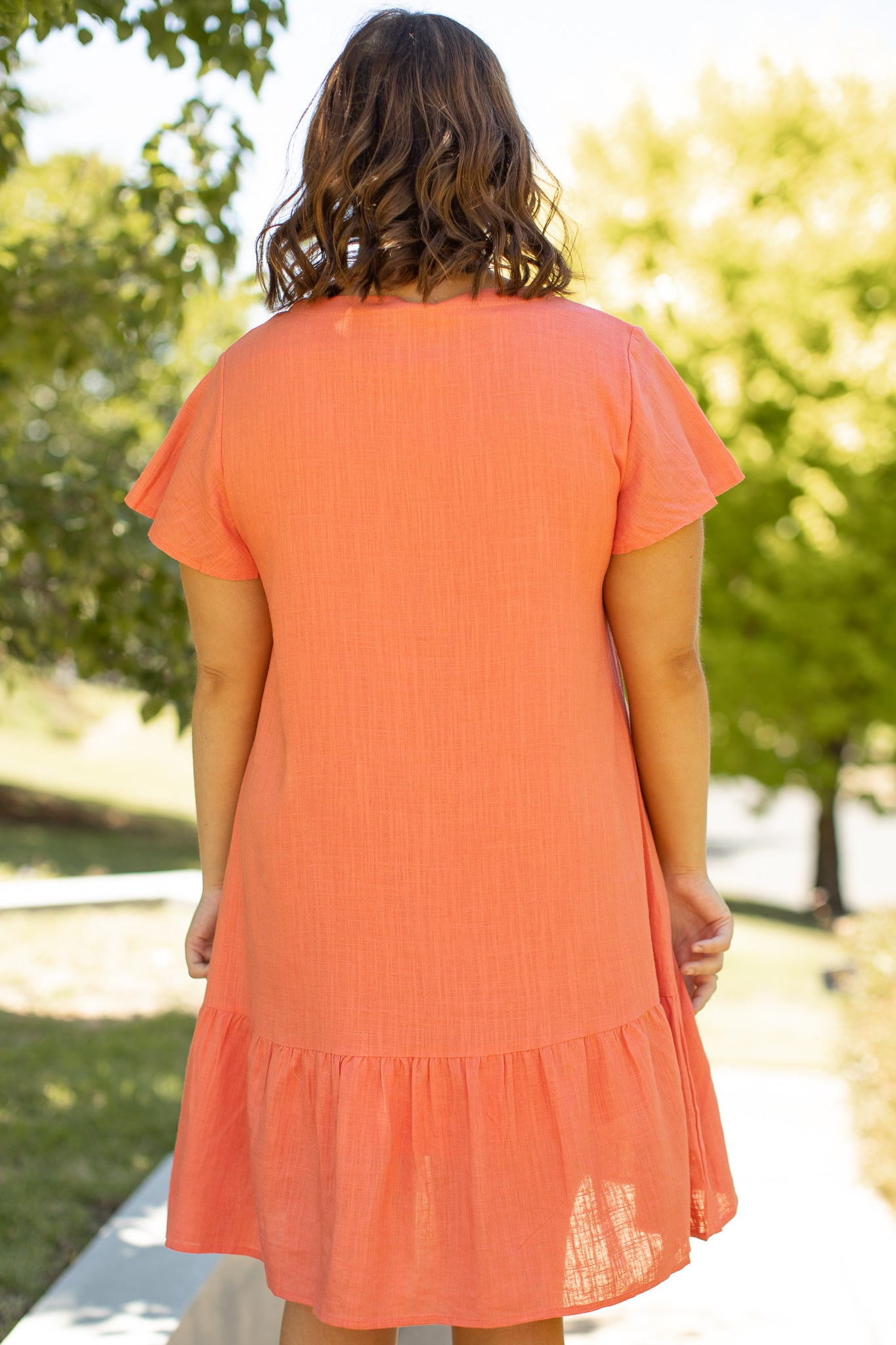 Esther Dress in Melon