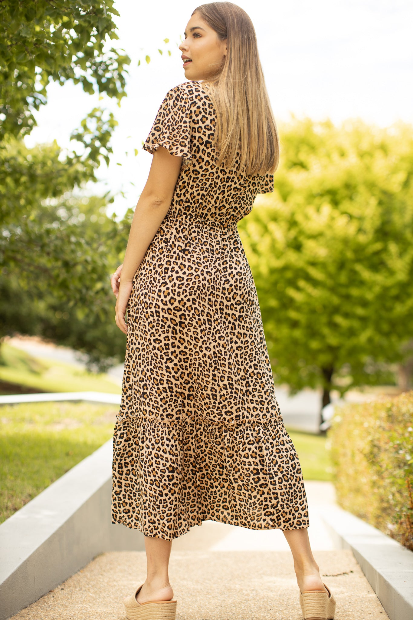 Nelly Dress in Leopard