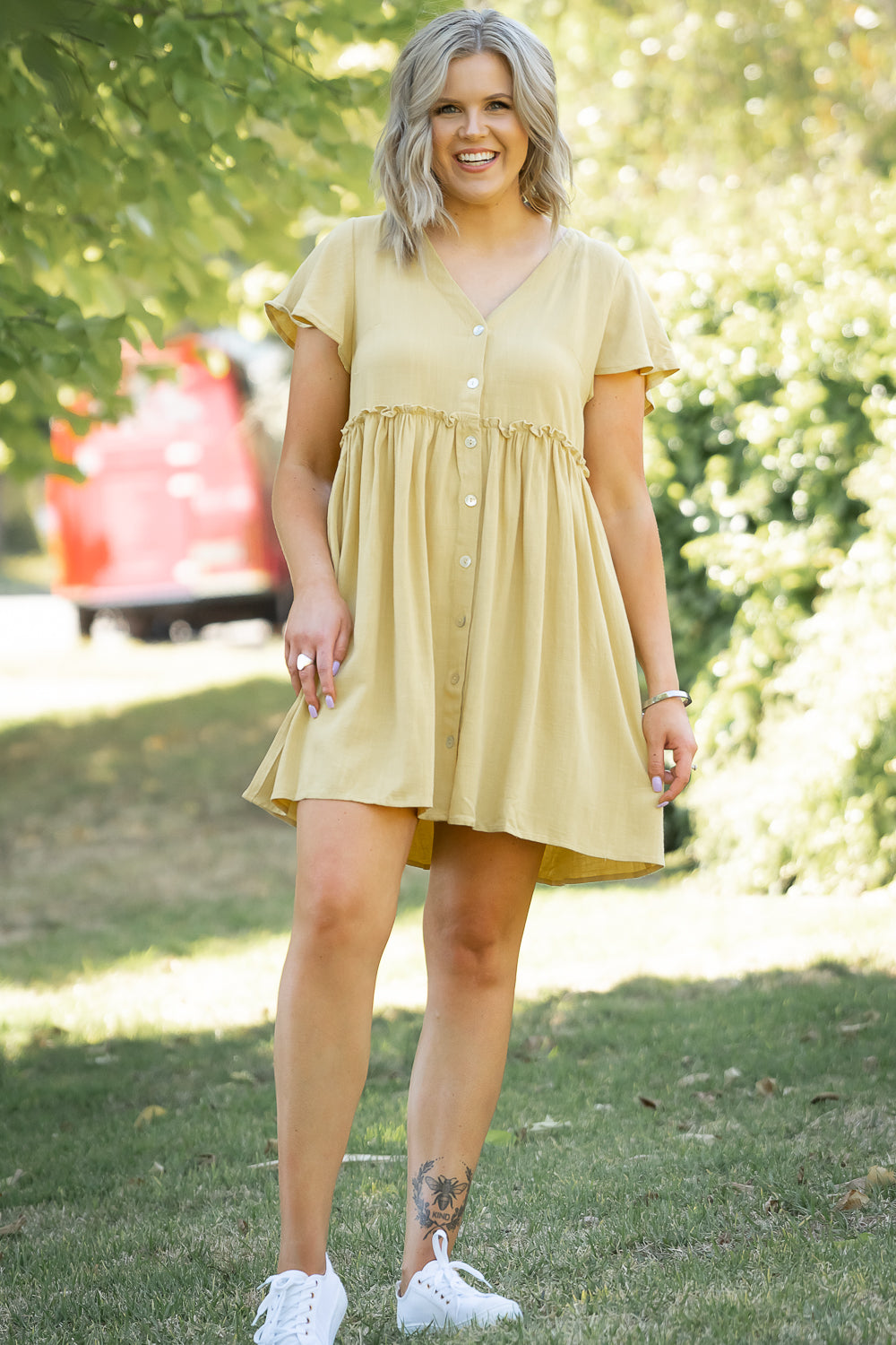 Sareia Dress in Mustard