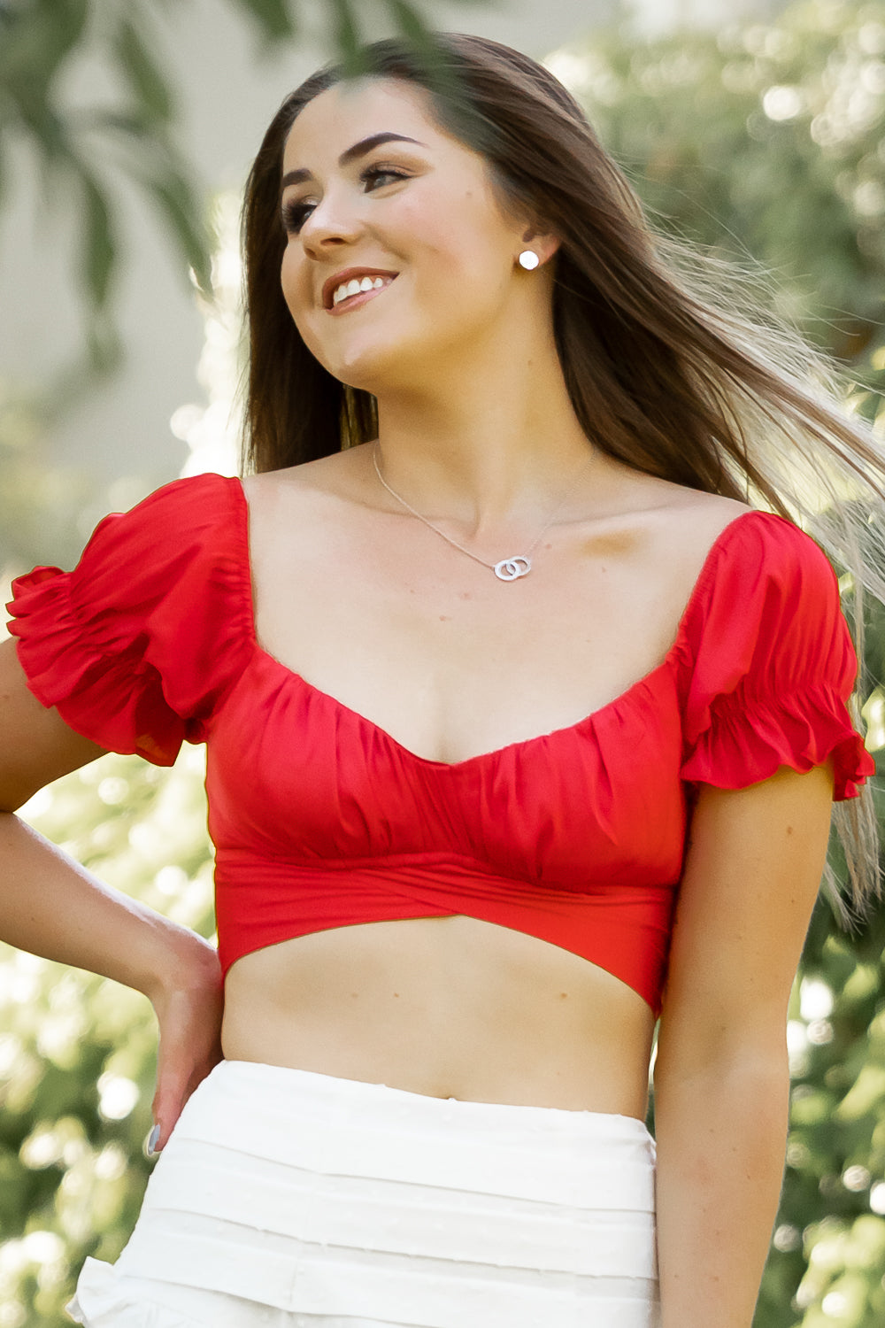 Pia Top in Red