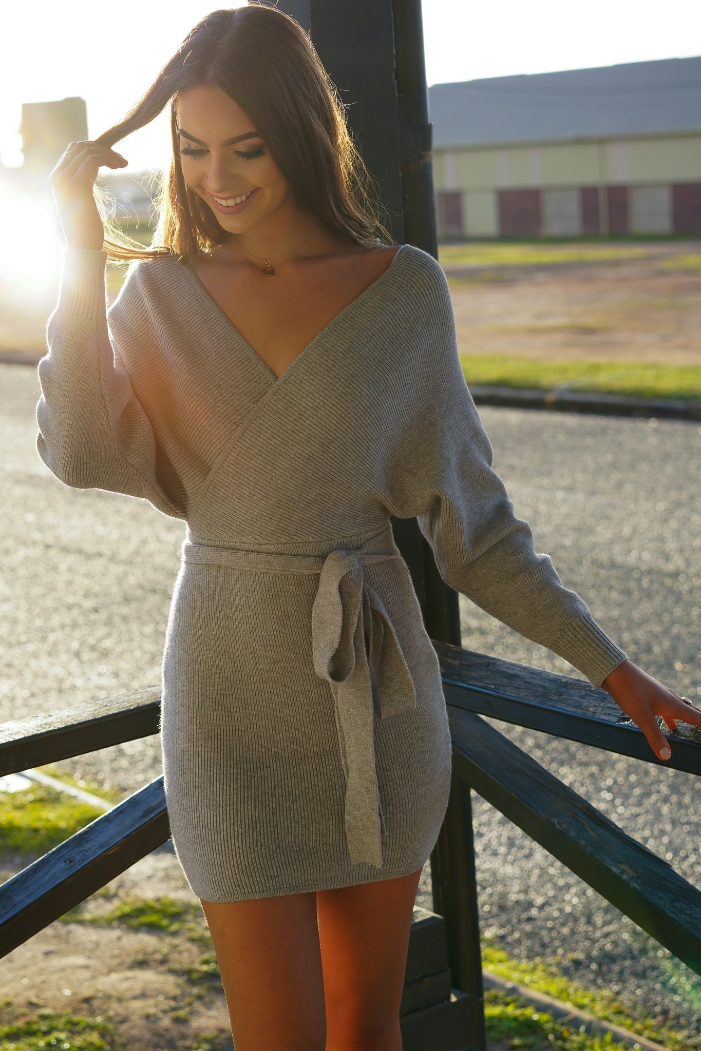 Finley Dress in Grey