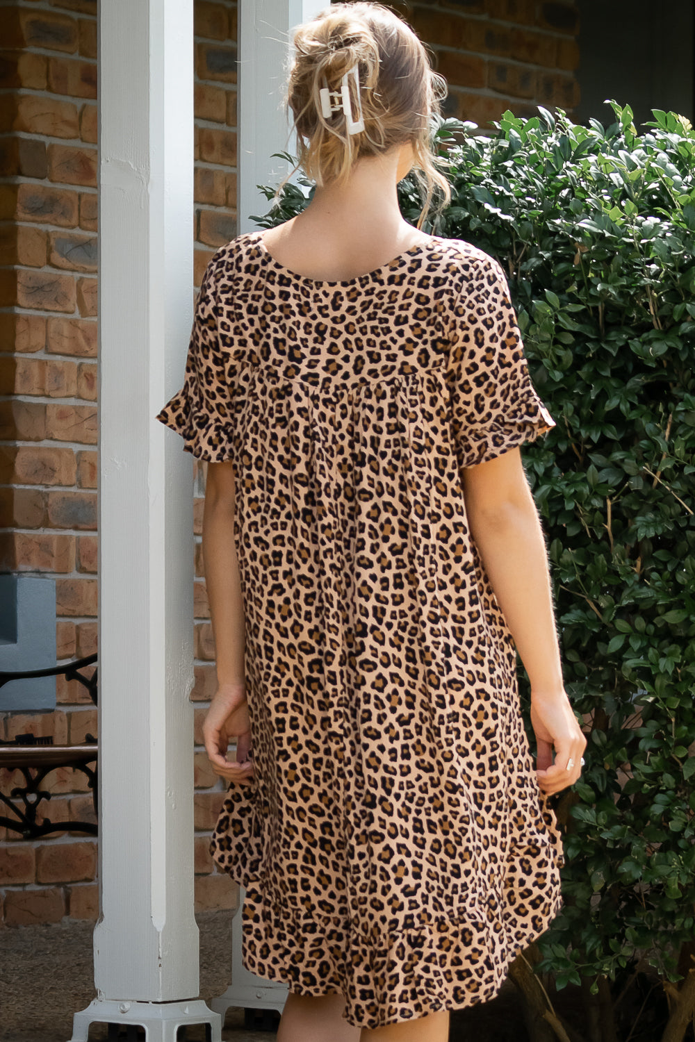 Holly Dress in Leopard