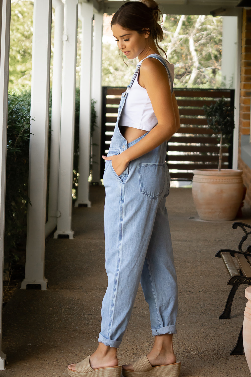 Dina Overalls in Light Blue