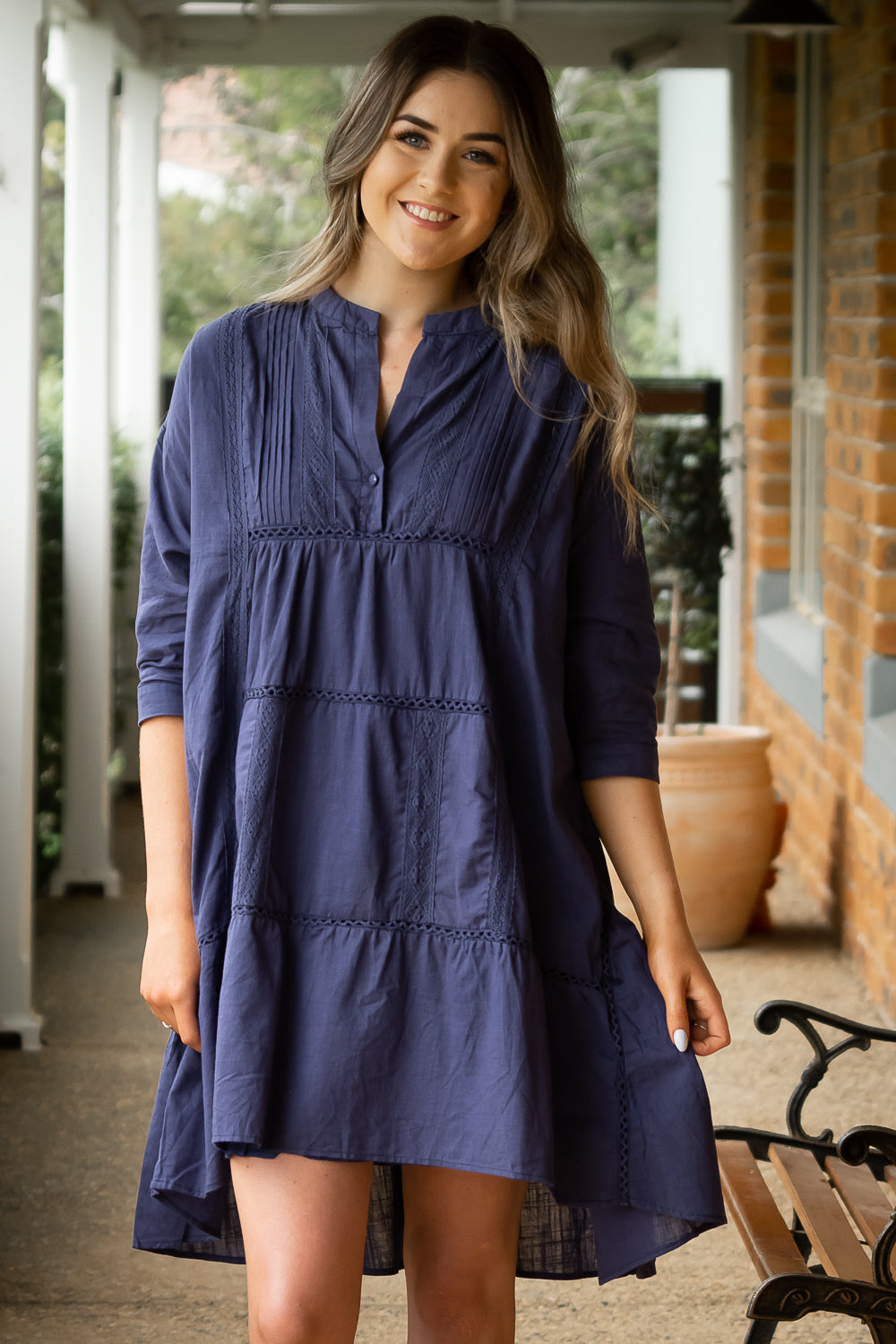 Josette Dress in Navy