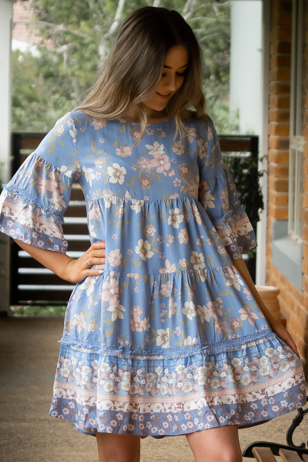 Elyse Dress in Blue