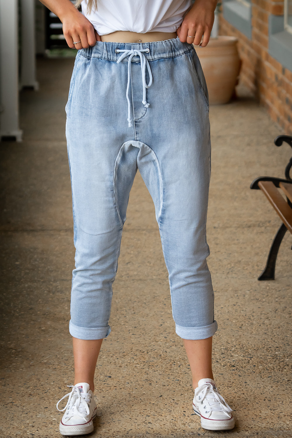 Ziggi Joggers in Light Denim