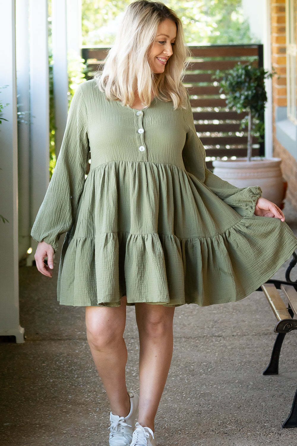 Jacqueline Dress in Khaki