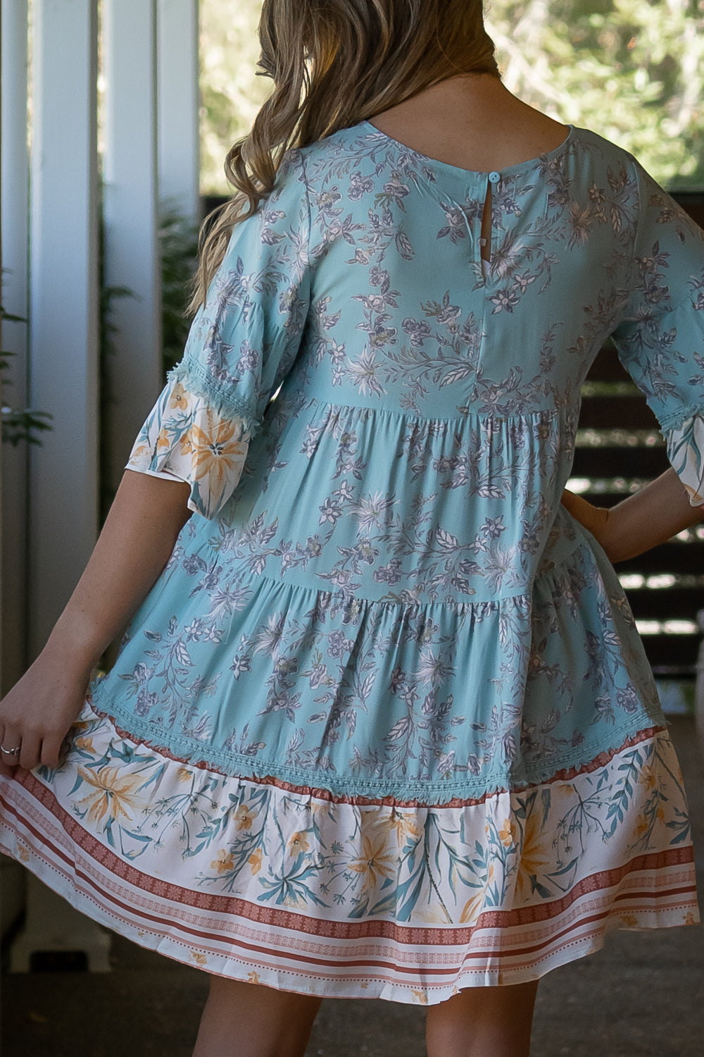 Elyse Dress in Turquoise