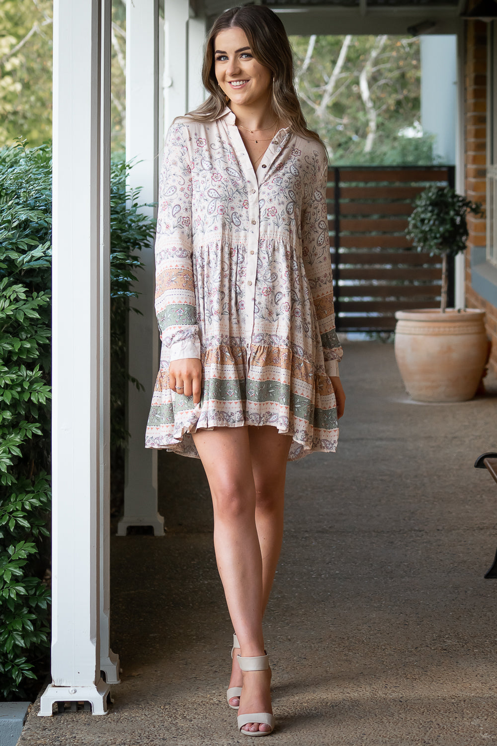 Saint Claire Dress in Natural
