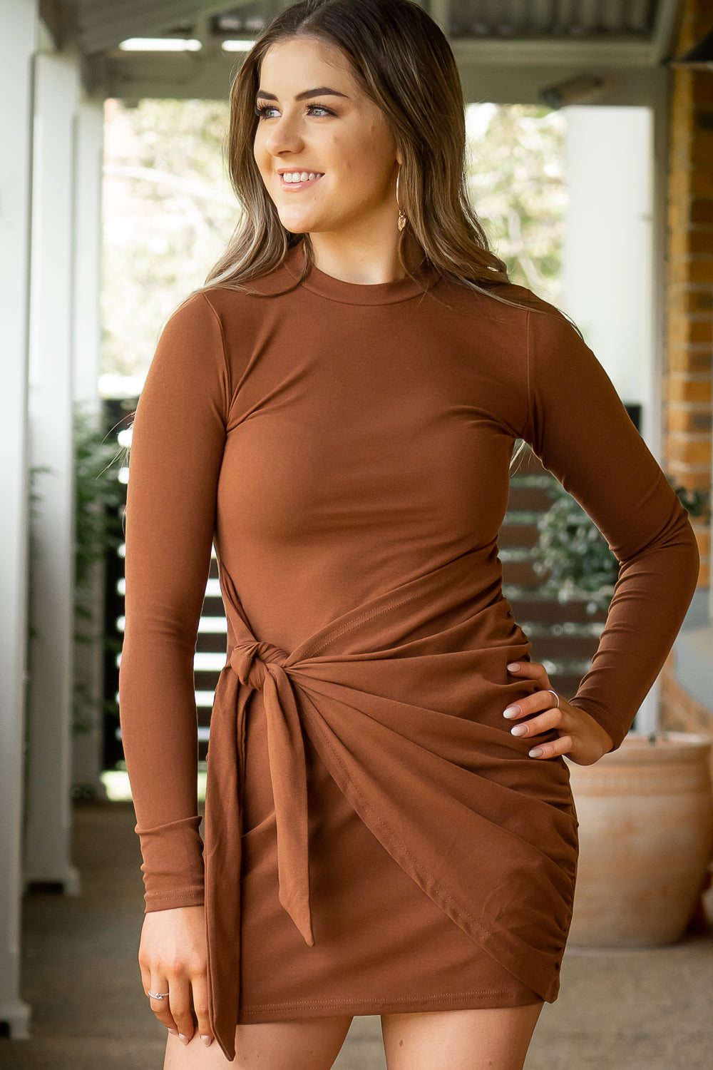 Shelbie Dress in Chocolate
