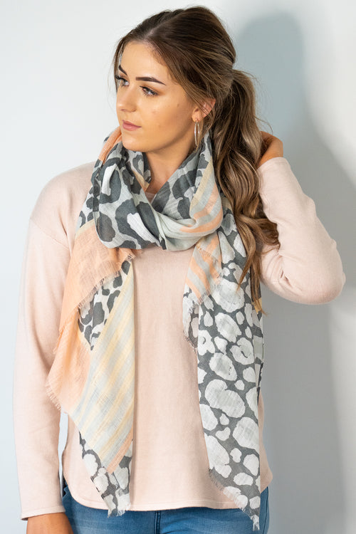 Emily Scarf in Peach
