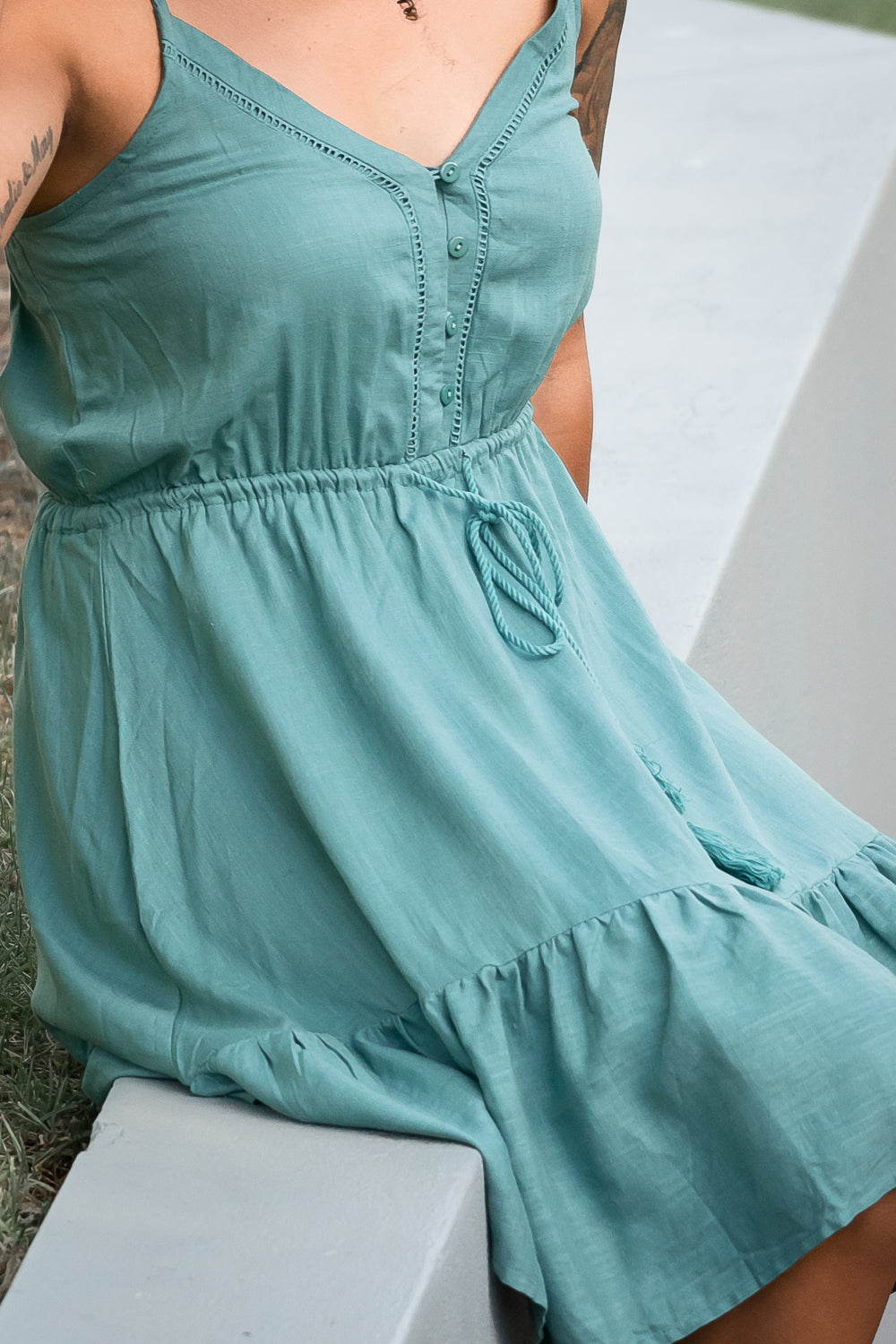 Chelsie Dress in Jade