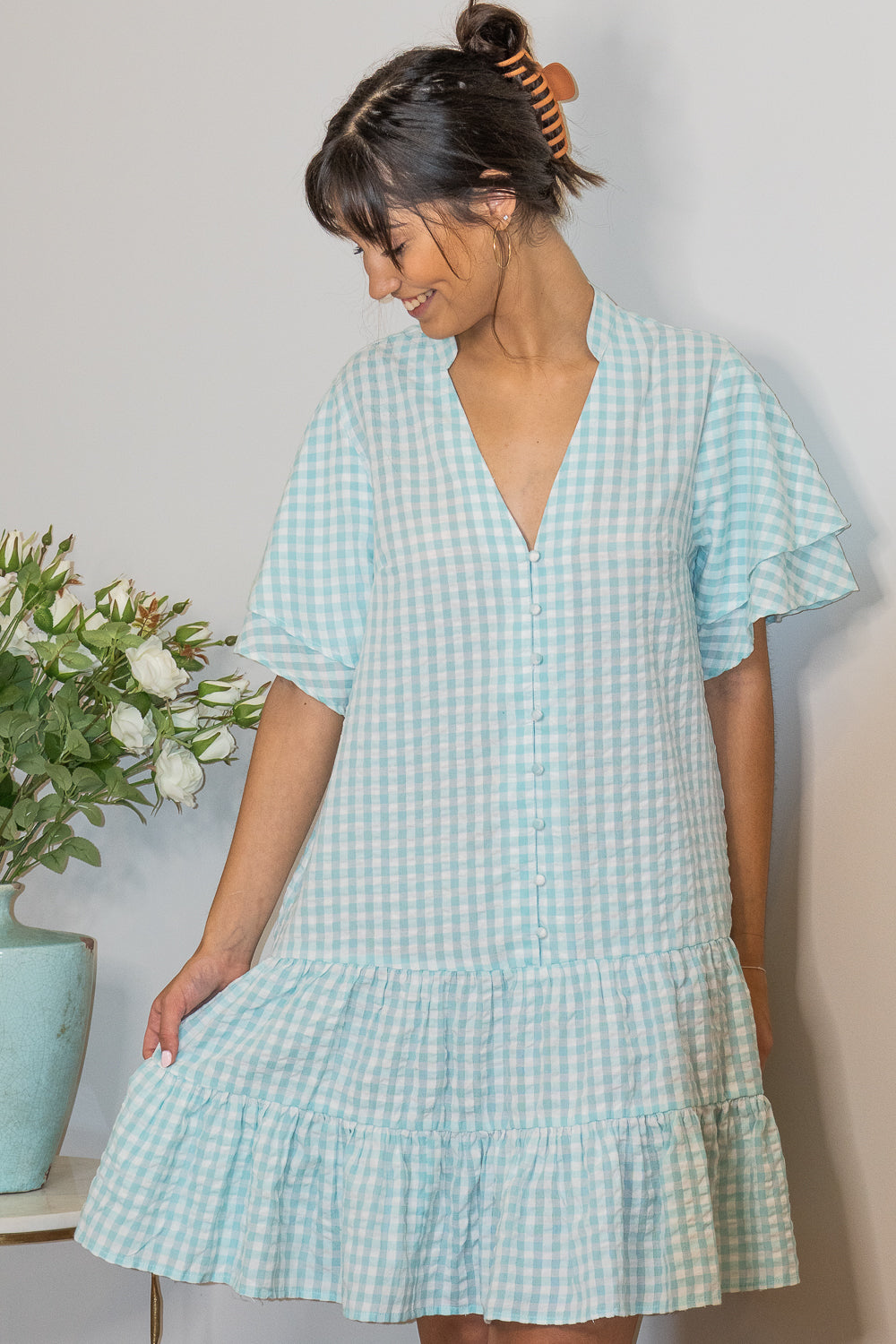 Catrina Dress in Mint