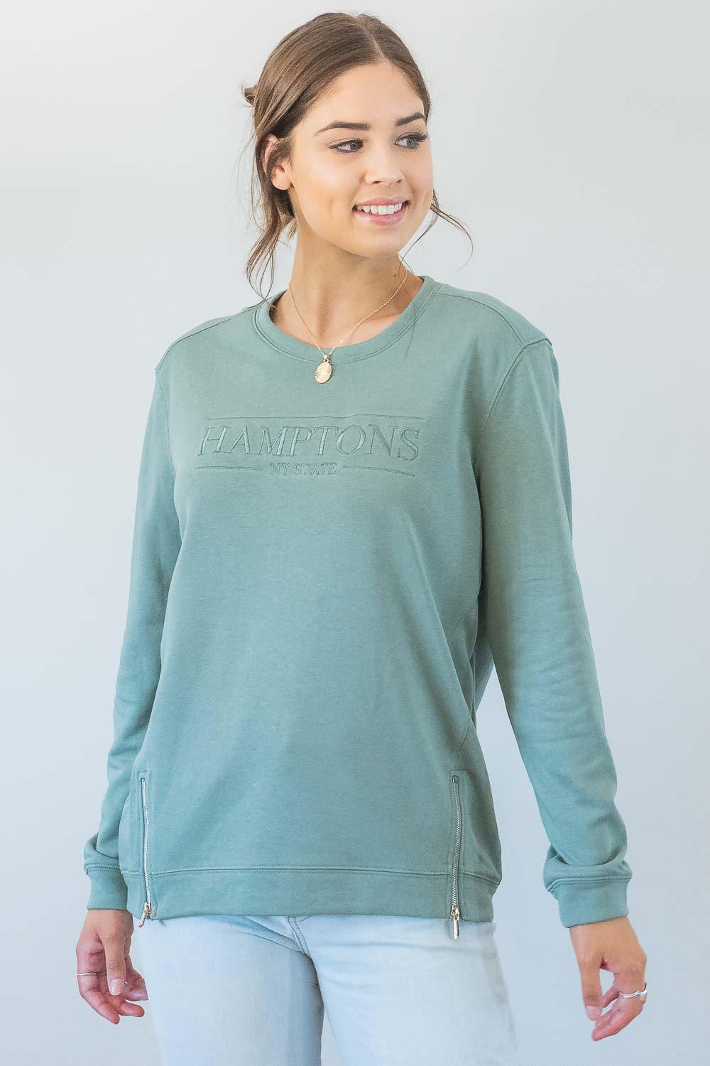 Hamptons Jumper in Sage