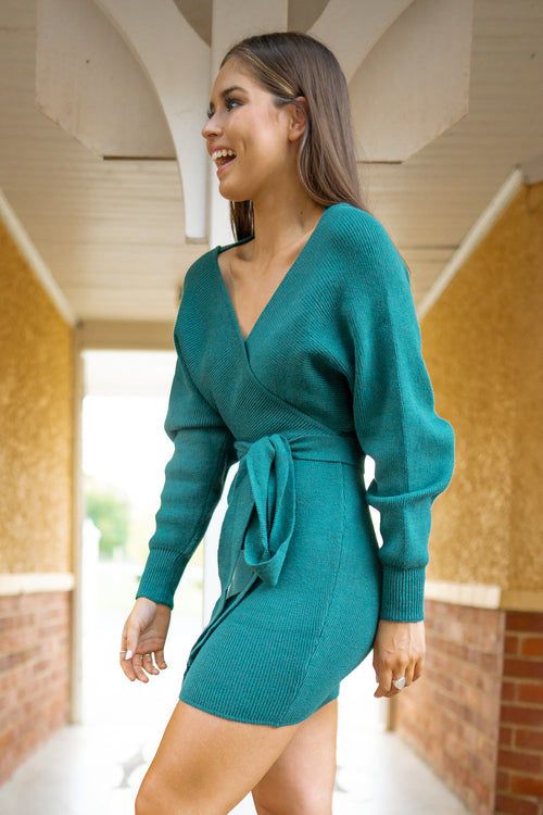 Angie Dress in Emerald