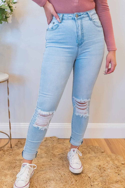 Zahara Jeans in Light Blue